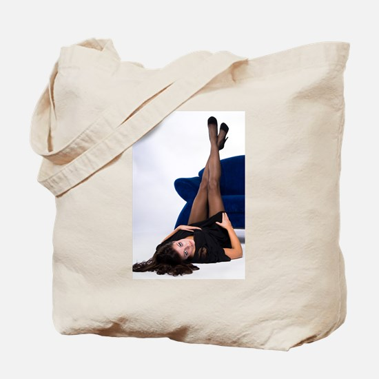 Attractive Girl Tote Bag