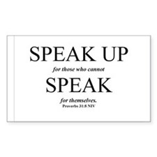 Speak Up Rectangle Decal