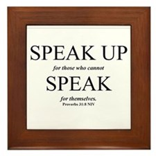 Speak Up Framed Tile