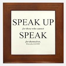 Speak Up Framed Tile