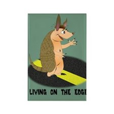Armadillo on the Edge Rectangle Magnet