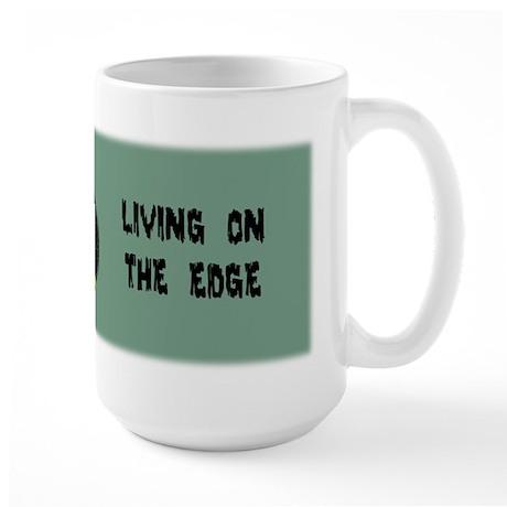 Armadillo Living on the Edge Large Mug
