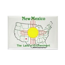 State of New Mexico Rectangle Magnet