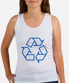 Blue Recycle Women's Tank Top