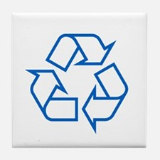 Blue Recycle Tile Coaster