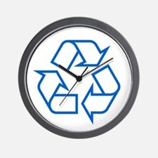 Blue Recycle Wall Clock