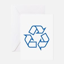 Blue Recycle Greeting Card