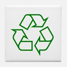 Green Recycle Tile Coaster
