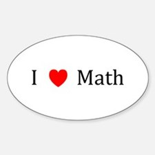 I Heart Math Oval Decal