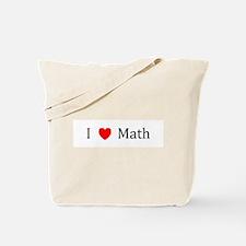 I Heart Math Tote Bag