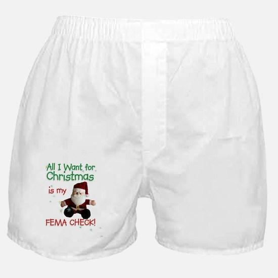 FEMA Check Santa Boxer Shorts
