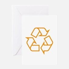 Orange Recycle Greeting Card