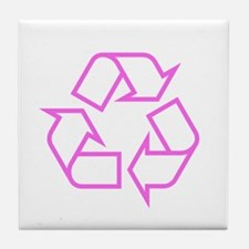Pink Recycle Tile Coaster