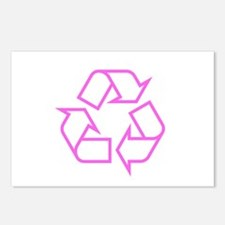 Pink Recycle Postcards (Package of 8)