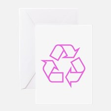 Pink Recycle Greeting Card