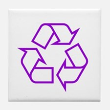 Purple Recycle Tile Coaster