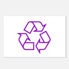 Purple Recycle Postcards (Package of 8)