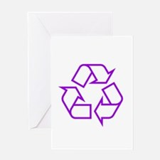 Purple Recycle Greeting Card