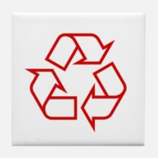Red Recycle Tile Coaster