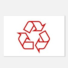 Red Recycle Postcards (Package of 8)