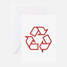 Red Recycle Greeting Card