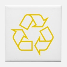 Yellow Recycle Tile Coaster