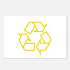 Yellow Recycle Postcards (Package of 8)