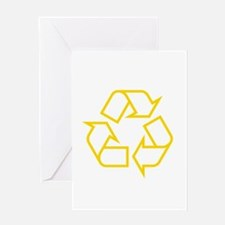 Yellow Recycle Greeting Card