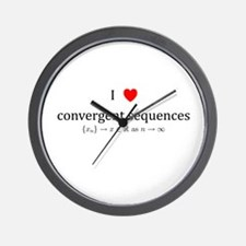 I Heart Convergent Sequences Wall Clock