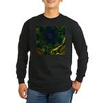 Japan Fractal Long Sleeve Dark T-Shirt
