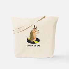 Armadillo on the Edge Tote Bag