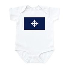 Bottony Blue Infant Bodysuit
