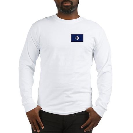 Bottony Blue Long Sleeve T-Shirt