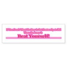 Go Away & Beat Yourself! Bumper Bumper Sticker
