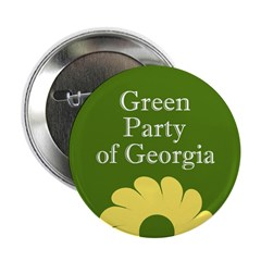 Georgia Green Party activist button