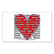 Love Languages Rectangle Decal