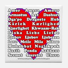 Love Languages Tile Coaster
