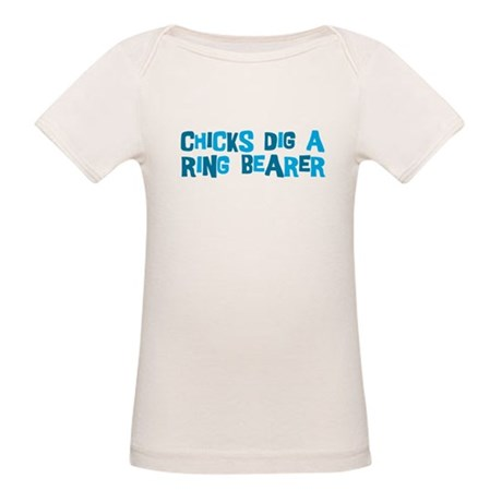 Chicks Dig A Ring Bearer Organic Baby T-Shirt