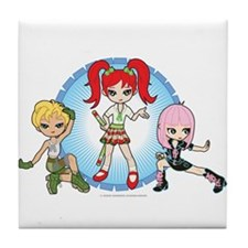 Lil' Sisters Trio Tile Coaster