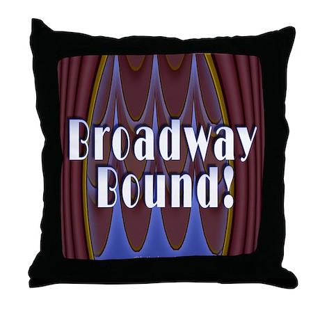 Broadway Bound! Throw Pillow