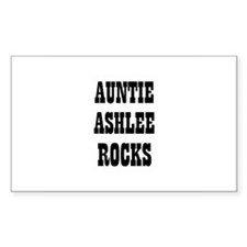 AUNTIE ASHLEE ROCKS Rectangle Decal