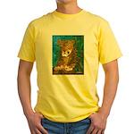 Leopard Tree Yellow T-Shirt