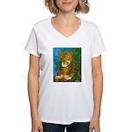 Leopard Tree Women's V-Neck T-Shirt