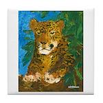 Leopard Tree Tile Coaster