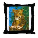 Leopard Tree Throw Pillow