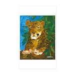 Leopard Tree Rectangle Sticker 50 pk)