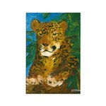 Leopard Tree Rectangle Magnet