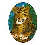 Leopard Tree Oval Ornament