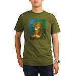 Leopard Tree Organic Men's T-Shirt (dark)