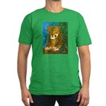 Leopard Tree Men's Fitted T-Shirt (dark)